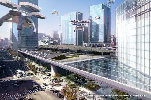 Where Will Flying Cars Take Us Japan Develops World S First Air Mobility Roadmap Meti Ministry Of Economy Trade And Industry